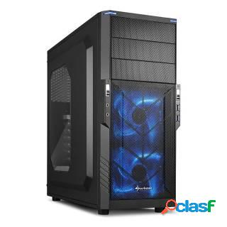 Sharkoon T3-W Middle Tower No Power minITX/mATX/ATX LED Blu