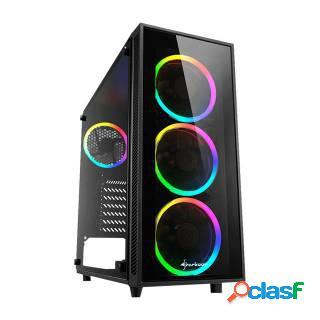 Sharkoon TG4 ATX ARGB Middle Tower No-Power minITX/mATX/ATX