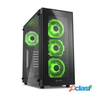 Sharkoon TG5 Middle Tower Vetro Temperato No Power LED Green