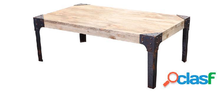 Tavolino di stile industriale in metallo e legno MADISON