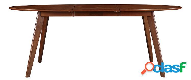 Tavolo da pranzo allungabile design noce L150-200 MARIK