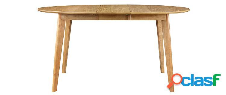 Tavolo da pranzo design rotondo allungabile quercia L120-150