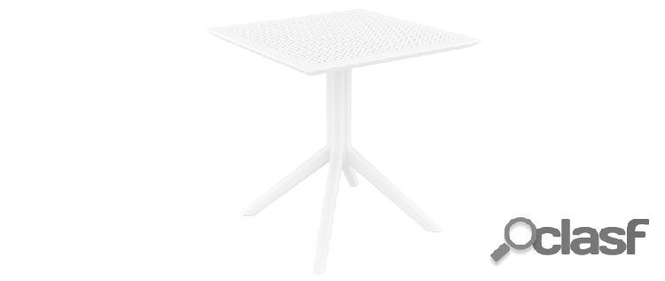 Tavolo da pranzo quadrato design bianco interno / esterno