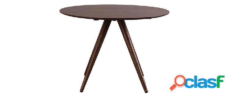 Tavolo da pranzo rotondo design noce D106 WALFORD