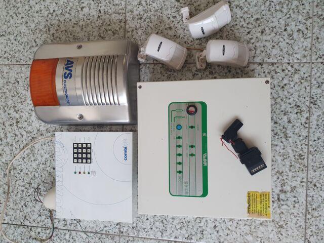 Kit allarme antifurto con combinatore gsm e sensori e sirena
