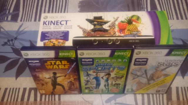 KINECT per xbox 360 con giochi