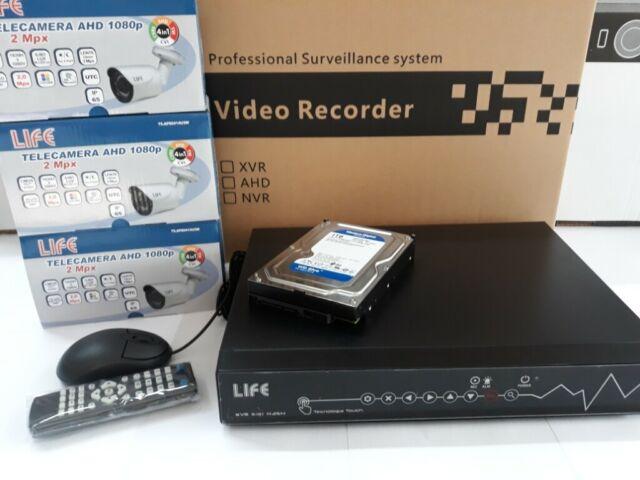 Kit di video sorveglianza ahd 4 canali