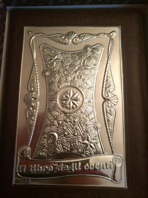 Libro degli Eventi in pelle e argento 925