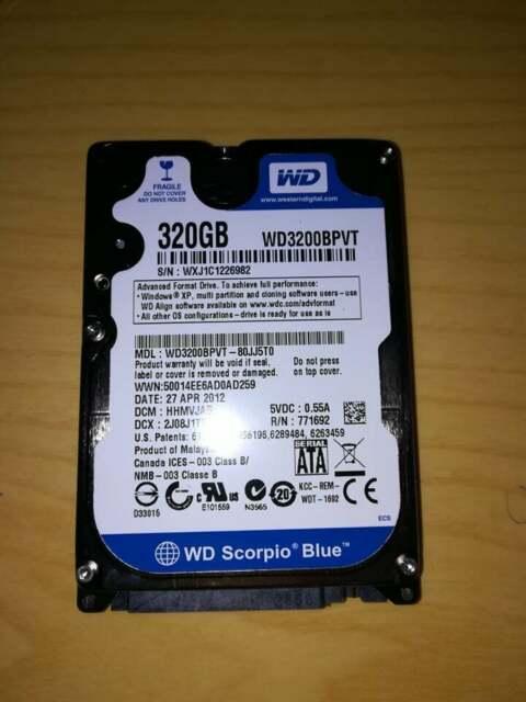 Hard Disk 320Gb per PC portatili 2.5 pollici