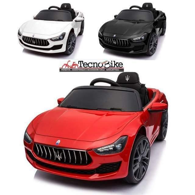 Auto elettrica per bambini Maserati Ghibli 12V Sedile in