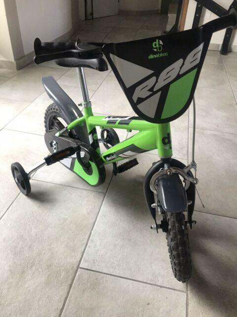 """Bicicletta per Bambini 12"""" MTB 1 freno Verde e Nera"""