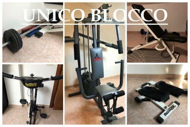 Multipower Panca Bilanciere Dischi56kg StepCyclette UNICO