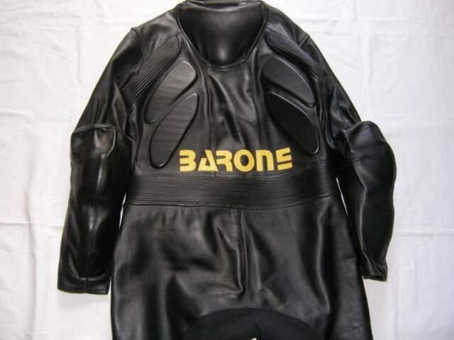Vintage Tuta intera Barone tg XL in pelle nera