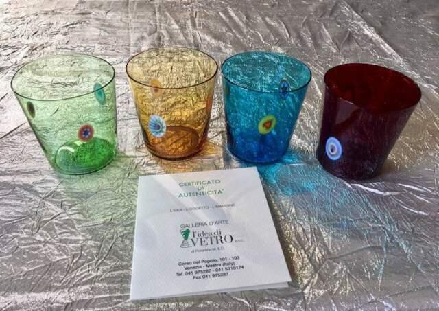 Bicchieri GOTI De Fornasa Designer S. Cenedese vetro di