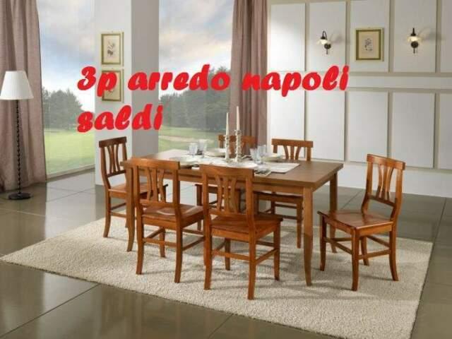Tavolo con 6 sedie 3p arredo massello pronta consegna