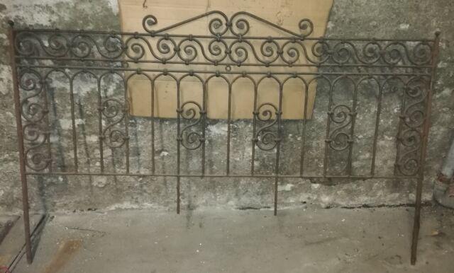 Testata letto ferro battuto antico