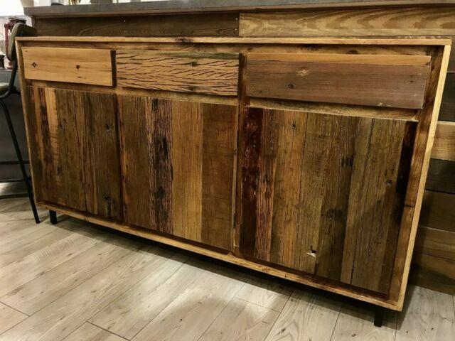 Credenza industrial in legno massello - NUOVA -