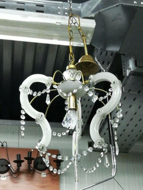 Lampadario in vetro di Murano con pendenti
