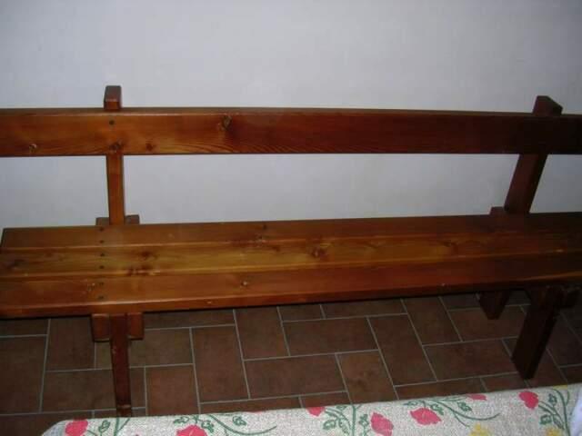Panca in legno massiccio