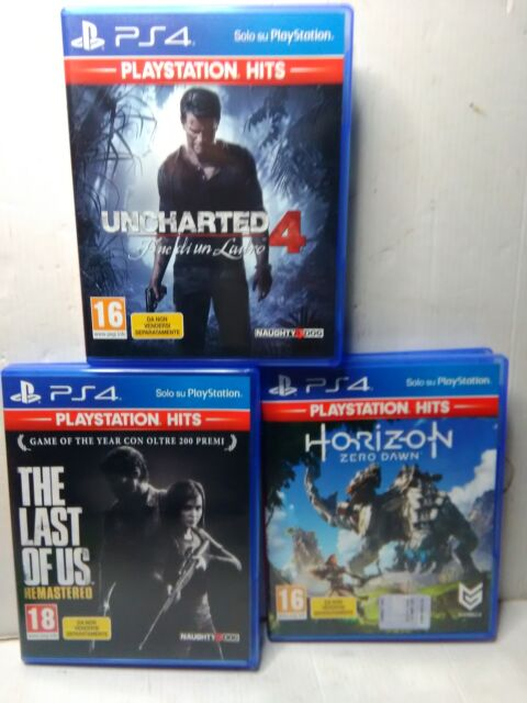 PS4 PlayStation lotto 3 giochi originali