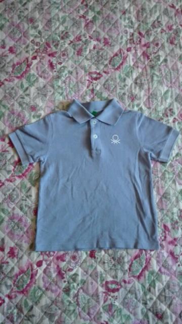 Benetton T Shirt Polo Bambino 3/4 anni