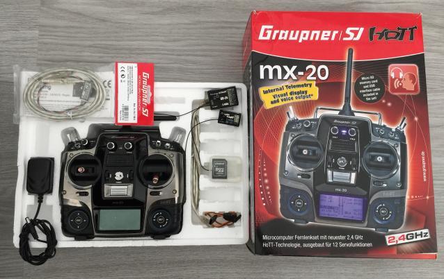 Graupner MX20 + 2 riceventi GR12L/GR24