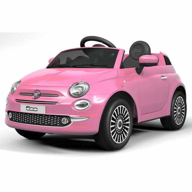 Macchina Elettrica Per Bambini 12v Fiat 500 Rosa