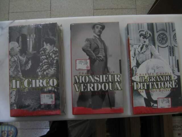 Tre Film VHS Charlie Chaplin