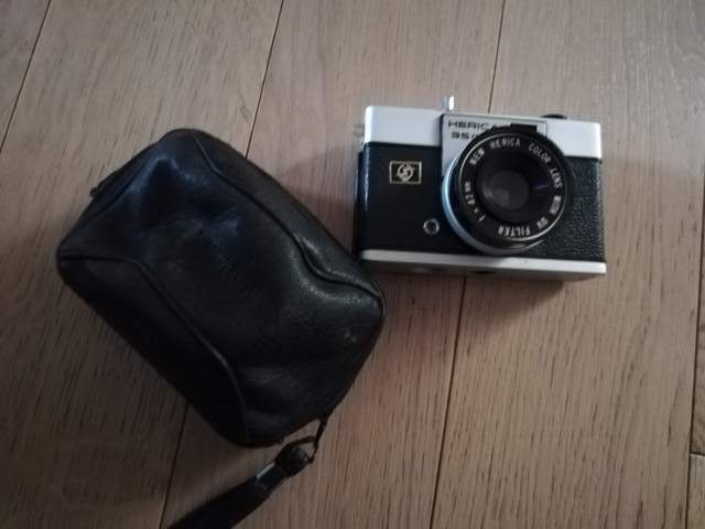Herica 35c vintage con custodia fotografica