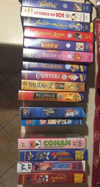 VHS Disney e altri cartoni animati