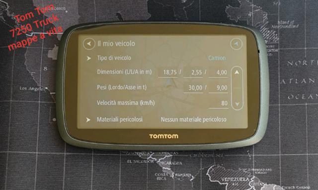 Tom Tom Pro  Truck Mappe e traffico a vita