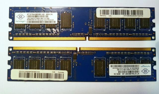 Memoria RAM Nanya 2 GB 2 x 1 GB