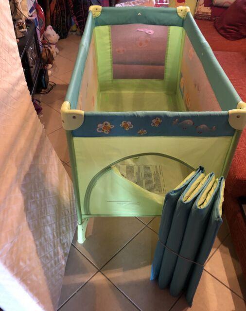 Lettino da viaggio Giordani+ materasso + seggiolone Ikea