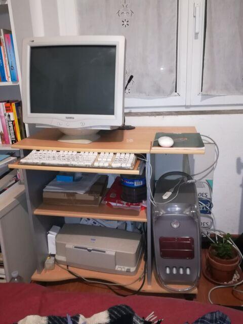 Mac G4 dual boot, monitor Philips, stampante