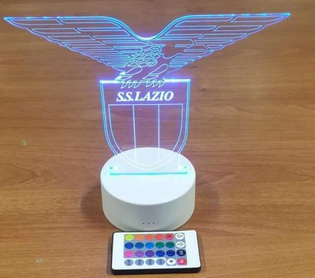 Lampada 3d SS Lazio led rgb senza fili