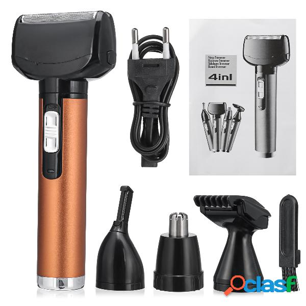 4 in 1 uomini elettrico trimmer orecchio naso capelli