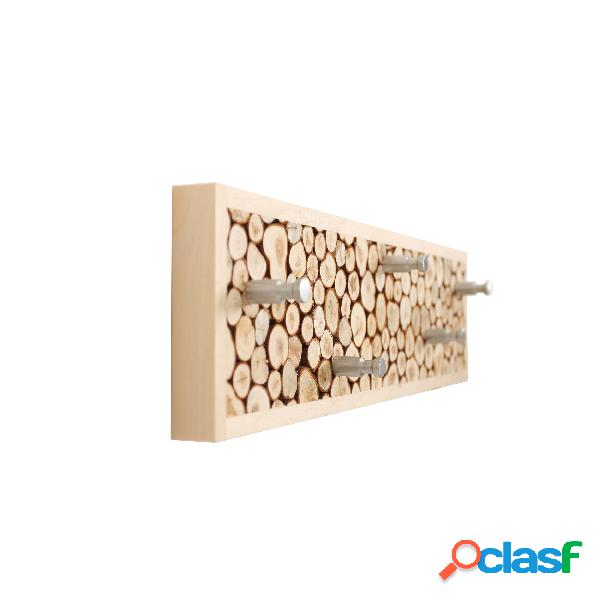Appendiabiti Juniper in legno massello, acciaio, dimensioni