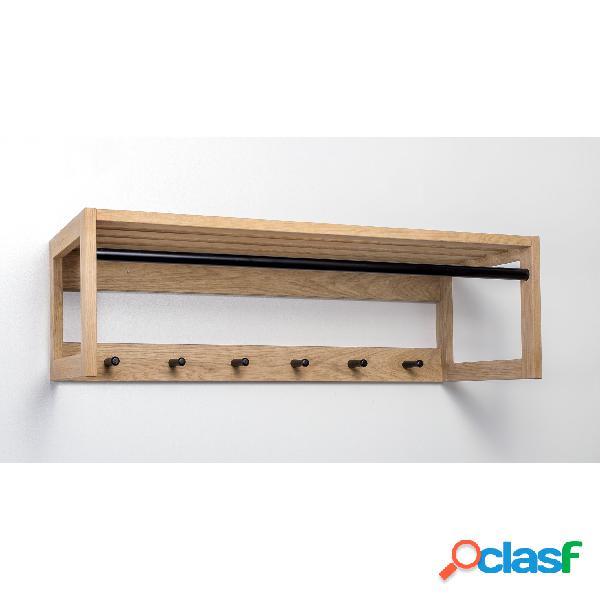 Appendiabiti da corridoio slussen in legno massello,