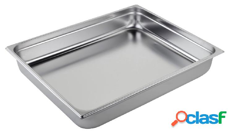 Bacinella in acciaio inox GN 2/1 H 150 mm - capacità 43,1