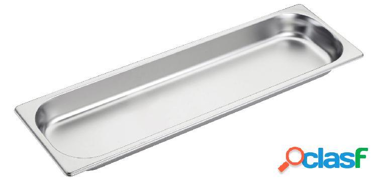 Bacinella in acciaio inox GN 2/4 H 40 mm