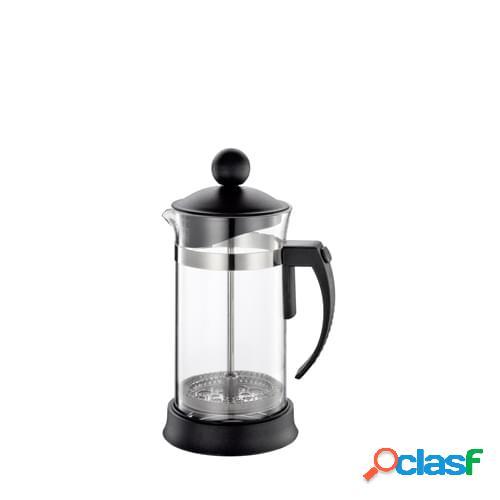 Caffettiera pressofiltro Laura lucida per 3 tazze in vetro
