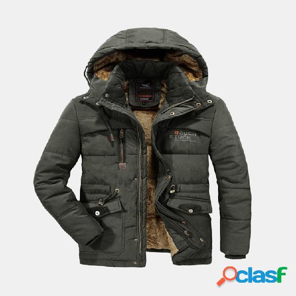 Cappotto con cappuccio staccabile in cotone