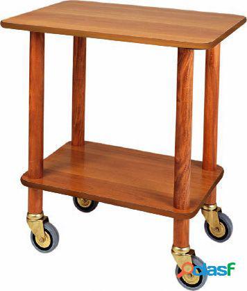 Carrello di servizio Gueridon in legno massello, L 700 mm x