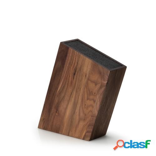 Ceppo Coltelli Inclinato con inserto in legno di noce, cm