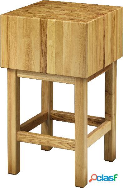 Ceppo in legno spessore 17 cm + sgabello dimensioni 70 x 40