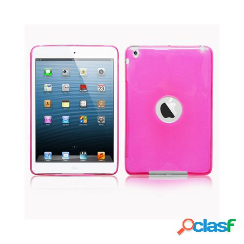 Custodia in TPU color rosa trasparente per Apple iPad Mini