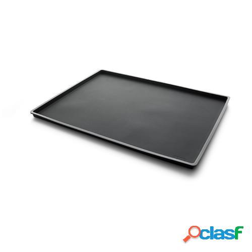 Foglio da Forno nero in silicone con bordo, dim. 40x30x1,2cm