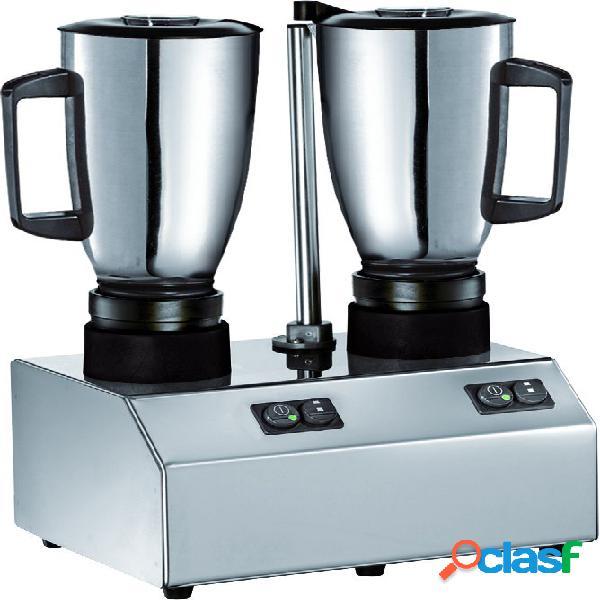 Frullatore 2 bicchieri in acciaio INOX - potenza 600 + 600 W