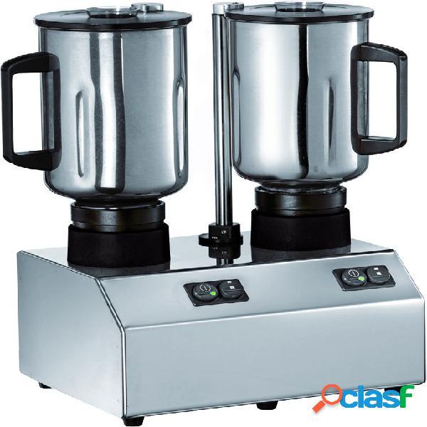 Frullatore 2 bicchieri in acciaio INOX - potenza 600 W + 600
