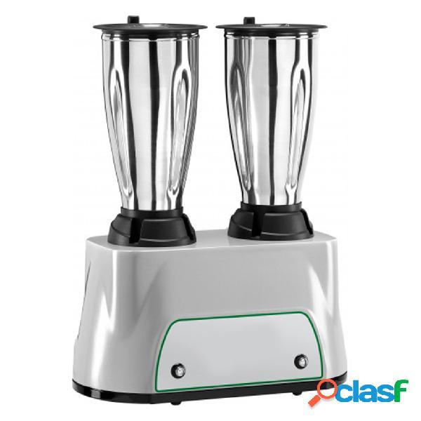 Frullatore 2 bicchieri in acciaio inox - potenza 350 + 350 W